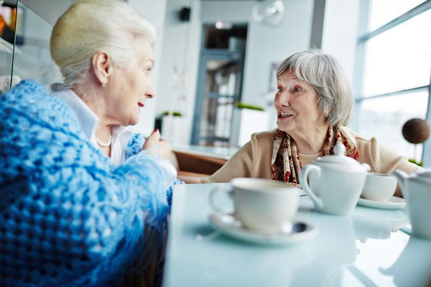 Senior socialising in devon